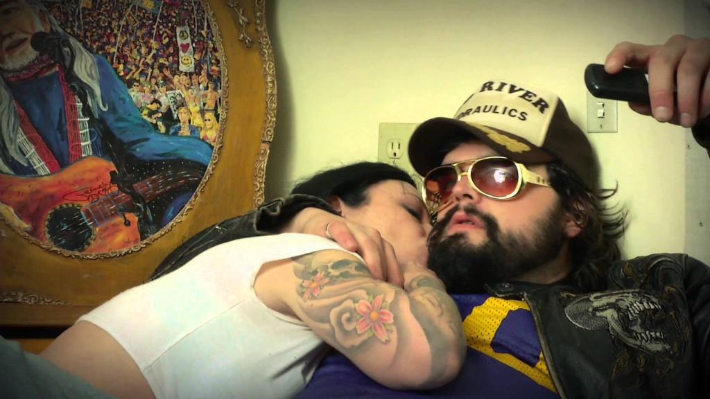 Still image from Powder Mill's music video: Knockdown Drag Out Love