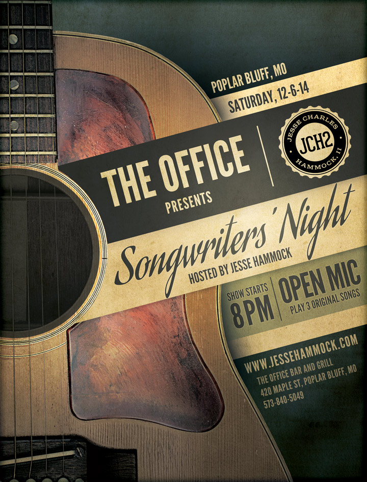 Songwriter's Night hosted by Jesse Charles Hammock at The Office in Poplar Bluff on 12-6-14