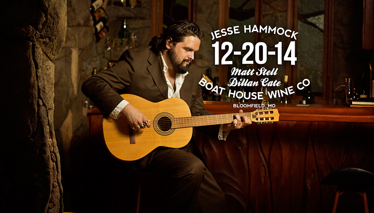 Jesse Hammock and Matt Stell at Boat House Wine Co on 12-20-14 in Bloomfield, MO