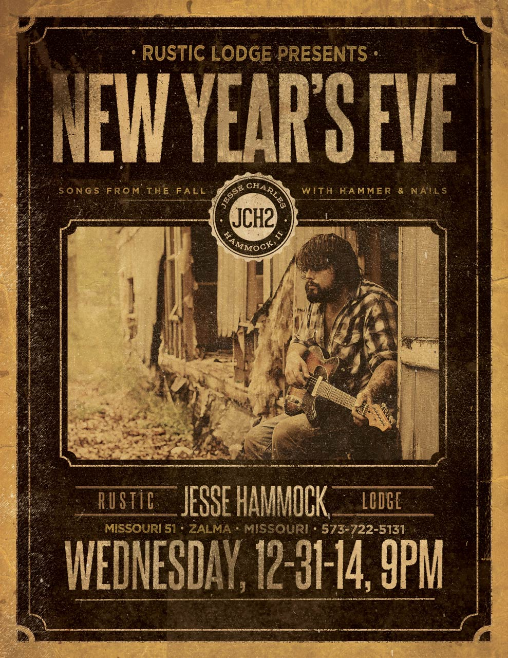 New Year's Eve with Jesse Charles Hammock at The Rustic Lodge